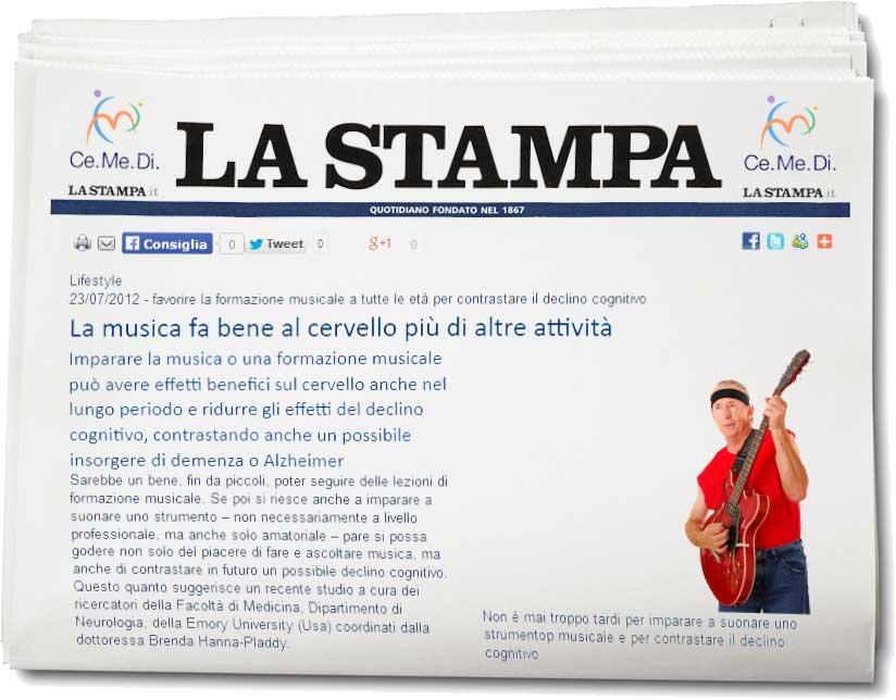 Yoga a Trento Musicoterapia Giornale La Stampa